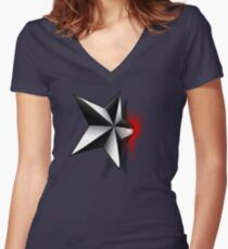Star of Death Women's Fitted V-Neck T-Shirt