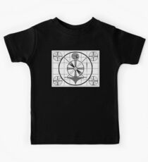 Indian Head Television Test Pattern Kids Tee