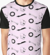 Space Odyssey Iconography (pink) Graphic T-Shirt