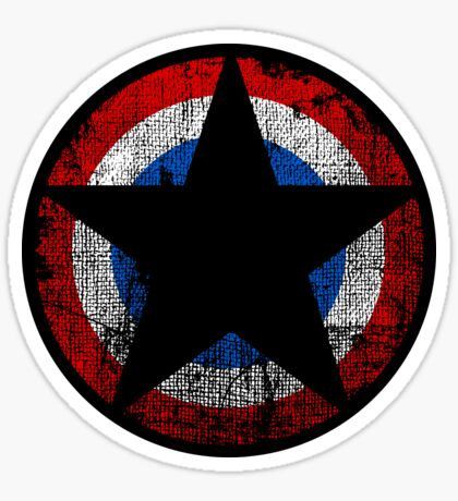 Patriot - Distressed Star Sticker