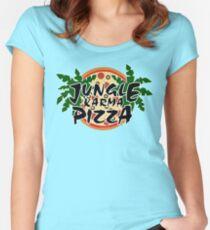 Jungle Karma Pizza Employee Shirt Women's Fitted Scoop T-Shirt