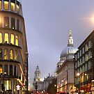 London Street View with St Paul's Cathedral by Jane McDougall