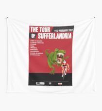 Official Tour of Sufferlandria 2017 Poster - MALE Rider Wall Tapestry