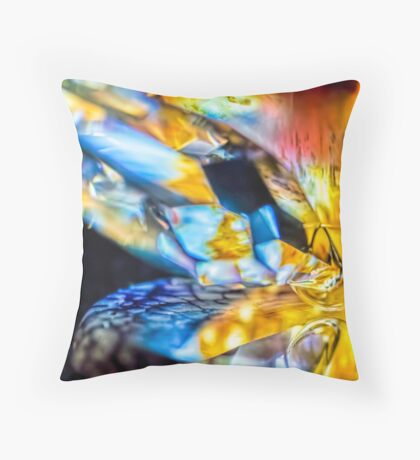 Walking in the River Throw Pillow