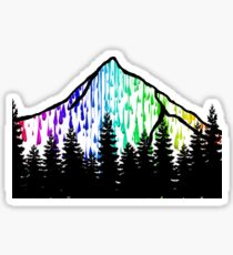 paint drip mountain  Sticker