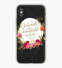 JEHOVAH IS THE STRONGHOLD OF MY LIFE iPhone Case