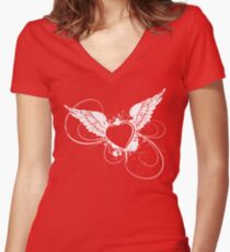 Pink Angel Women's Fitted V-Neck T-Shirt