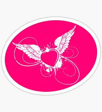 Pink Angel Sticker