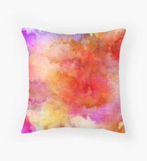 ink style of orange watercolour texture Throw Pillow
