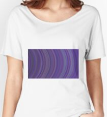 curve ribbon pattern purple Women's Relaxed Fit T-Shirt