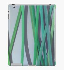 ribbon paper background green iPad Case/Skin