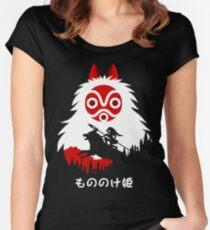 Princess Mononoke - Hayao Miyazaki - Studio Ghibli Women's Fitted Scoop T-Shirt