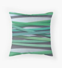 ribbon paper background green Throw Pillow