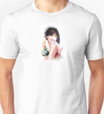 fashion woman with bottle of perfume  Unisex T-Shirt