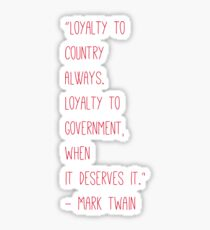 Politics Quote By Mark Twain Sticker