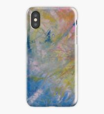 Brush on and combing effect abstract iPhone Case/Skin