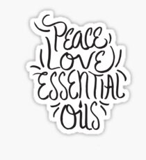 Peace Love Essential Oils - Aromatherapy Oil Saying Sticker