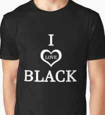 Funny Humor I Love Black Joke Graphic Novelty Graphic T-Shirt