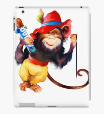 funny monkey iPad Case/Skin