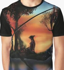 Rotating ART! two pics in one! fishing and gathering/Dali Graphic T-Shirt