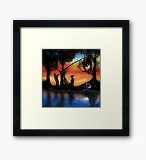 Rotating ART! two pics in one! fishing and gathering/Dali Framed Print