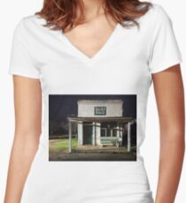 Band Hall at Grenfell Women's Fitted V-Neck T-Shirt