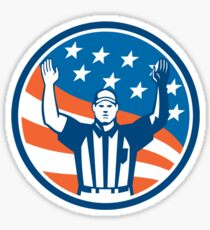 American Football Official Referee Touchdown Sticker