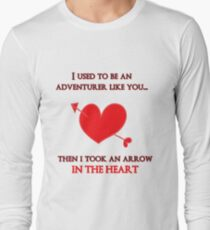 Nerd Valentine - Arrow in the heart Long Sleeve T-Shirt