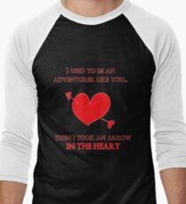 Nerd Valentine - Arrow in the heart Men's Baseball ¾ T-Shirt