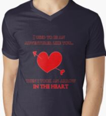 Nerd Valentine - Arrow in the heart Mens V-Neck T-Shirt