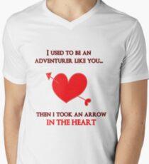 Nerd Valentine - Arrow in the heart Mens V-Neck T-Shirt