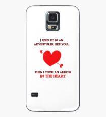 Nerd Valentine - Arrow in the heart Case/Skin for Samsung Galaxy