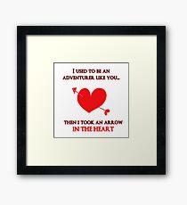 Nerd Valentine - Arrow in the heart Framed Print