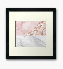 Mixed pinks rose gold marble Framed Print