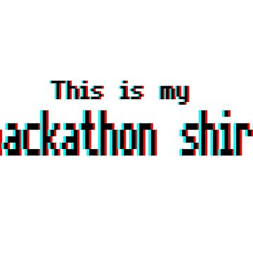 Hackathon shirt (8-bit 3D) by perceptron