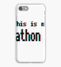 Hackathon shirt (8-bit 3D) iPhone Case/Skin