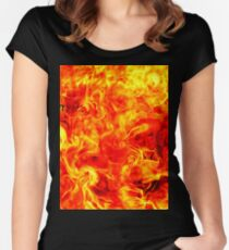 Fire Women's Fitted Scoop T-Shirt