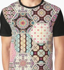 Honeycomb Abstract in Pink Graphic T-Shirt
