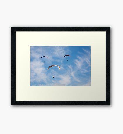 Face Flight Framed Print