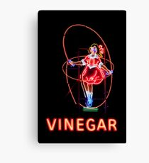 Neon Sign, Skipping Girl Vinegar, Melbourne, Australia  Canvas Print