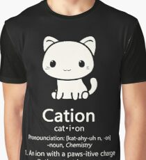 Cute Science Cat- Kawaii Cation Chemistry Pawsitive Graphic T-Shirt