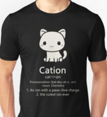Cute Science Cat- Kawaii Cation Chemistry Pawsitive T-Shirt