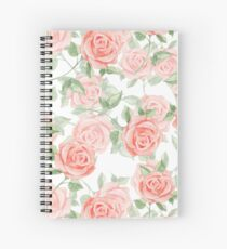 Romantic roses. Watercolor pattern Spiral Notebook