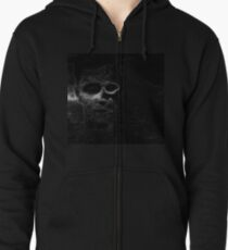 Floating Face Zipped Hoodie