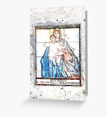 Newsstand votive of Tortora Greeting Card