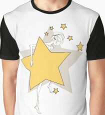 Paper doll with yellow stars Graphic T-Shirt