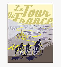 TOUR DE FRANCE; Vintage Bicycle Racing Print Photographic Print