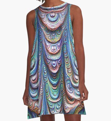 Frozen liquid Impression #DeepDream #Art A-Line Dress