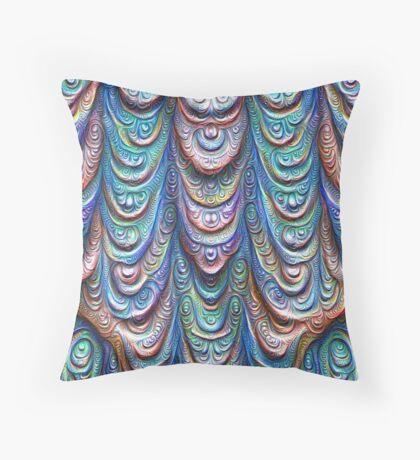 Frozen liquid Impression #DeepDream #Art Throw Pillow