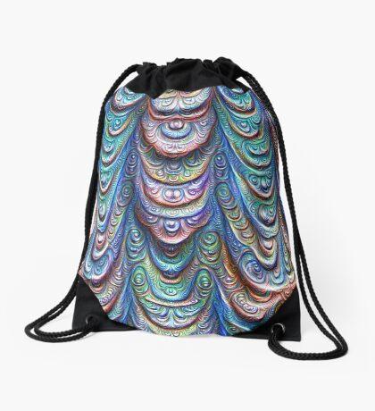 Frozen liquid Impression #DeepDream #Art Drawstring Bag